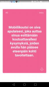 mobiilikoutsi applikaatio